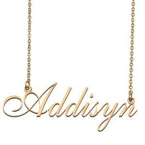 Custom Personalized Addisyn Name Necklace